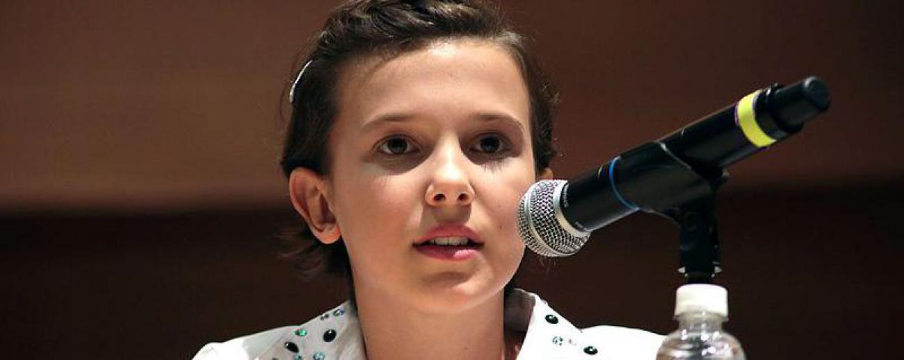 Millie Bobby Brown es la actriz que interpreta a Once en la ser Stranger Things.